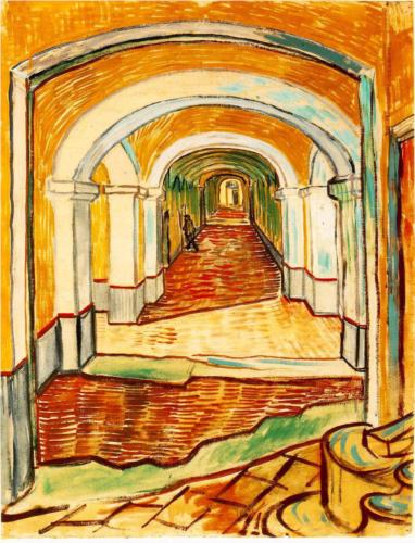 Van Gogh's A Corridor in the Asylum