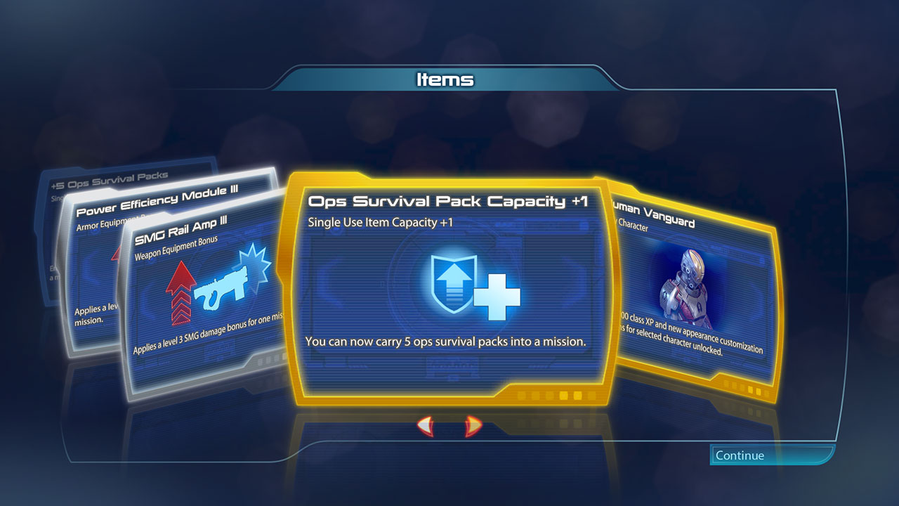Looking through my latest item pack.