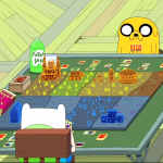 Finn and Jake playing Card Wars