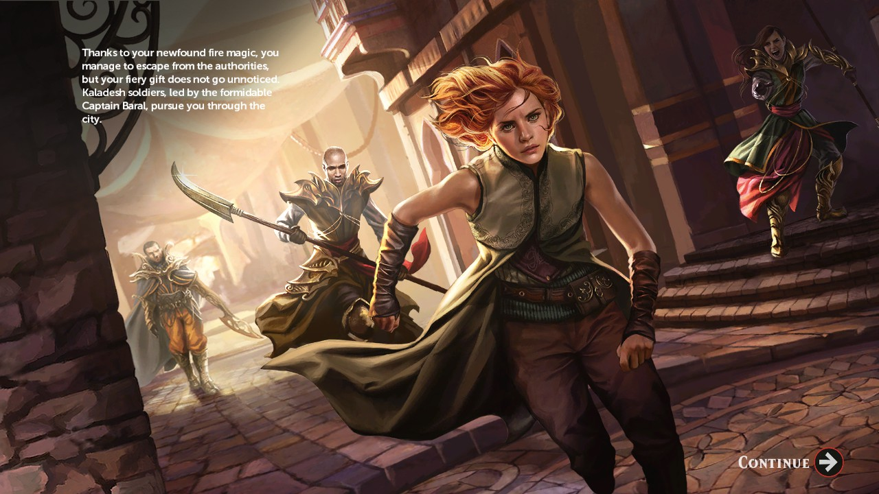 Fiery Chandra is another of the game's Planeswalker protagonists.