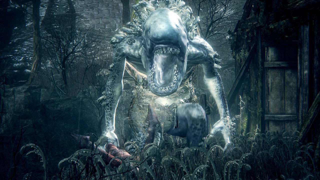 A Giant Fishman in the Old Hunters DLC.