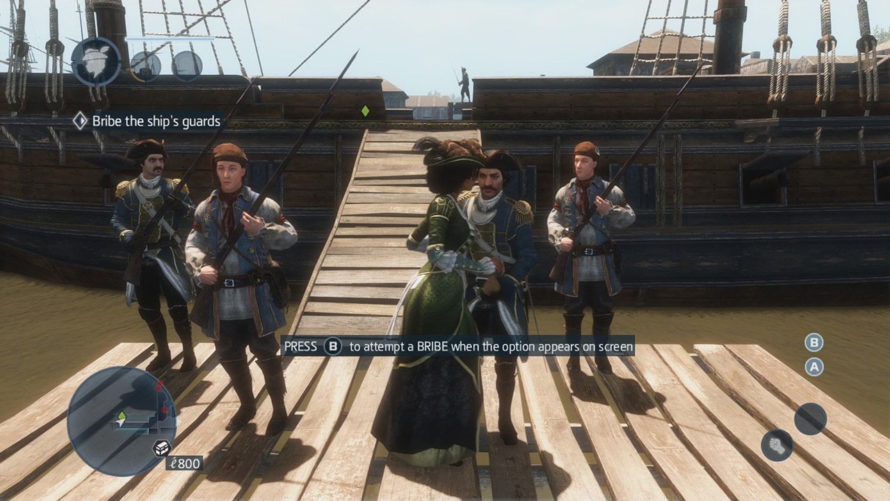 Aveline bribing guards